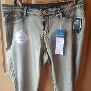 YMI SUPER SKINNY OIL DYED JEANS